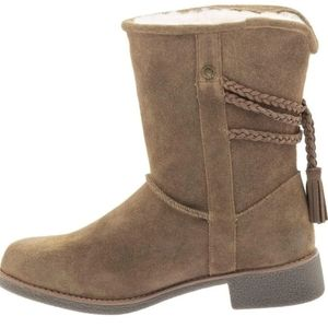 Abeo Suede Shearling Boots sz 10
